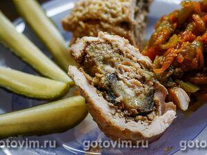 """Куриный рулет """"Ветчинный"""" – кулинарный рецепт"""