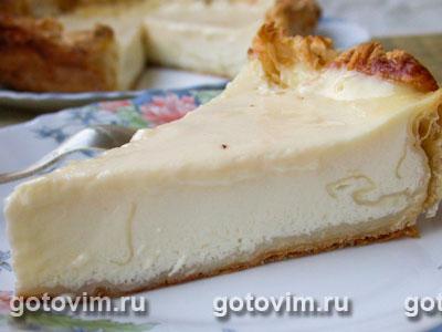 Пирог с заварным кремом. Фотография рецепта