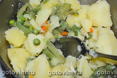 Суп-пюре из зеленого горошка с курицей, Шаг 06