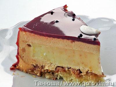 Фотография рецепта Зеркальная шоколадная глазурь для торта