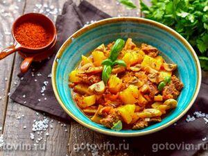Жаркое из говядины с картошкой и грибами