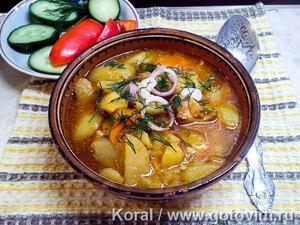 Соус из мяса с картофелем (суп кавардак, жаркоп)