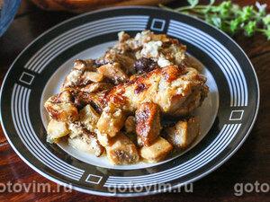 Жаркое из курицы с белыми грибами