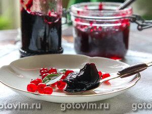 Желе из красной смородины с черникой