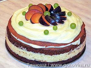 Торт «Цыганские тропы» с яблочным кремом и карамельными яблоками