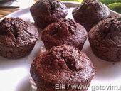 Воздушные шоколадно-цуккиниевые маффины