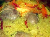 Куриные бедрышки с «веселеньким» рисом
