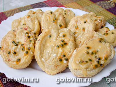 Берлинское печенье с маракуйей
