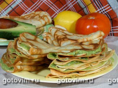 Блинчики с авокадо. Фото-рецепт