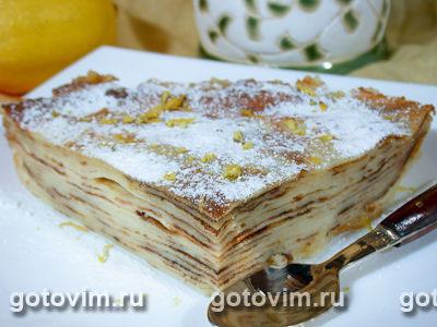 Блинчатый пирог с кремом