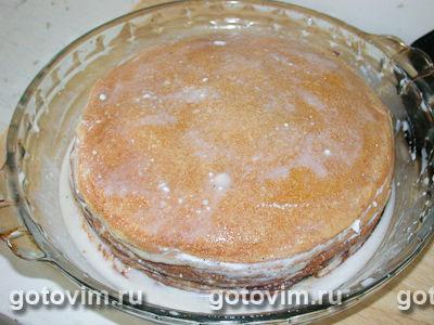 Блинчатый пирог с творожно ореховой начинкой