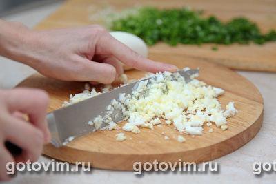 Блины с припеком (зелёным луком и яйцом)