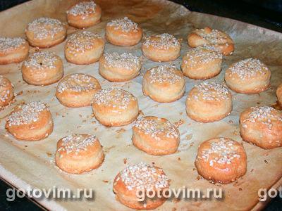 Сырное печенье с кунжутом