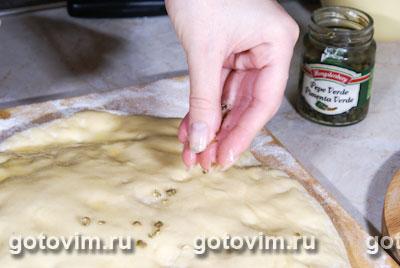 Фокачча с зеленым перцем