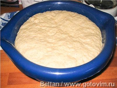 Формовой хлеб из пшеничной муки и овсяных хлопьев