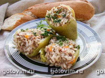 Перец, фаршированный мясом и рисом. Фото-рецепт: http://www.gotovim.ru/recepts/sbs/print.shtml?rec=78