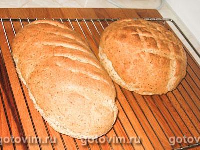 Хлеб с овсяными хлопьями и молотыми льняными семечками