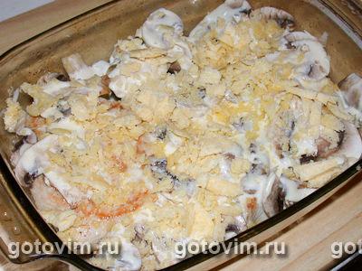 Филе индейки с грибами и сыром