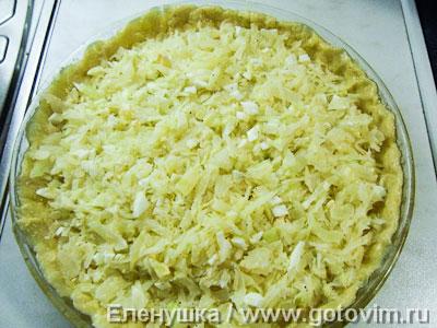 Капустный пирог (из дрожжевого заворного теста)