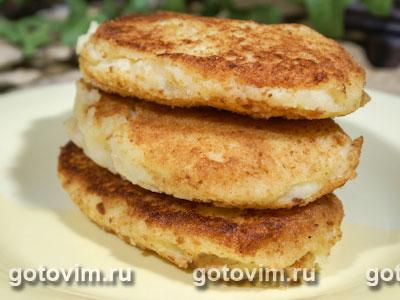 Картофельные котлеты с сыром. Фото-рецепт
