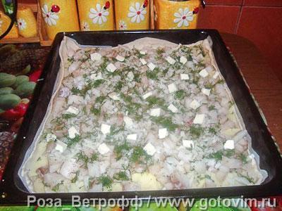 Картофельно рыбный пирог