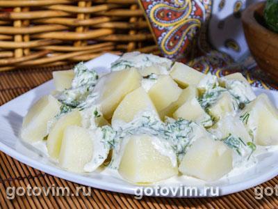 Картофельный салат с огуречно йогуртовой заправкой