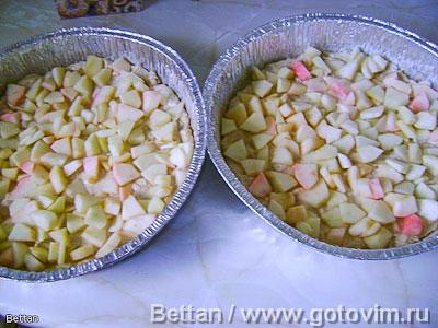 Кексопирог с яблоками