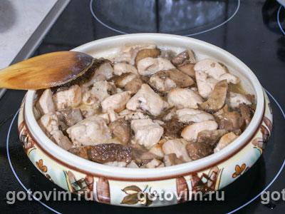 Кобблер с курицей и белыми грибами