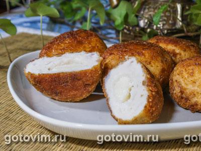 Тефтели из курятины с моцареллой