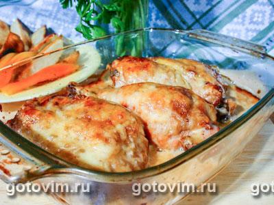 Курица в сырном соусе. Фото-рецепт