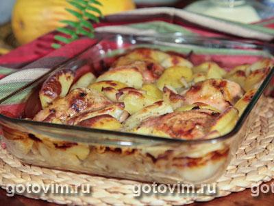 Куриные бедрышки с фенхелем и картофелем