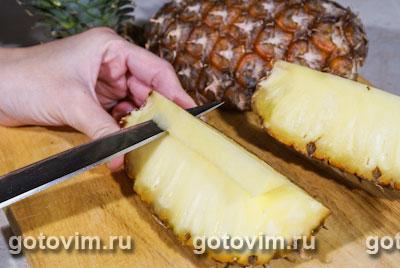 Курица с ананасом в кокосовом молоке