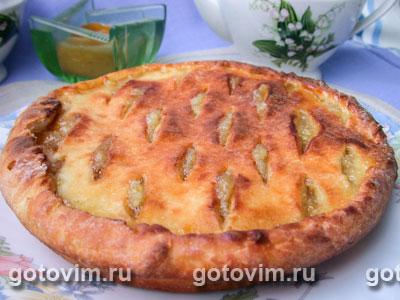 Лимонный пирог из творожного теста