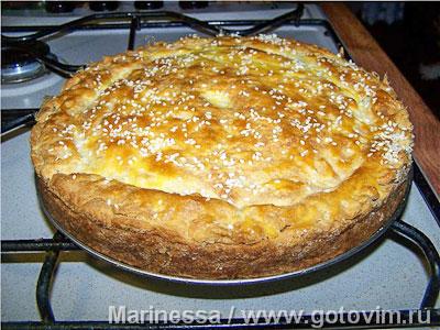 Луково-сырный закусочный пирог . Фото-рецепт