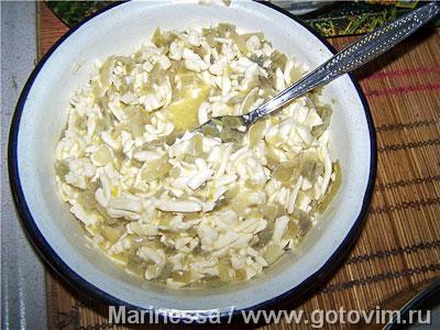 Луково-сырный закусочный пирог