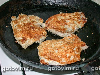 Мясо с кунжутом