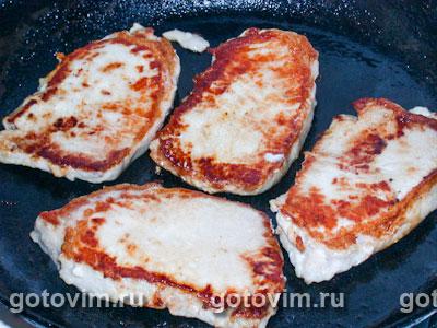 Медальоны из свинины с орехово сырной корочкой
