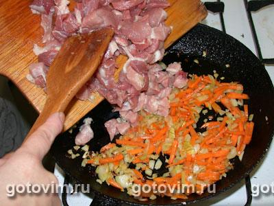 Мясо с грибами в сметане