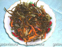 Острый салат с морской капустой