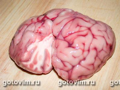 Мозги, тушенные в сметане