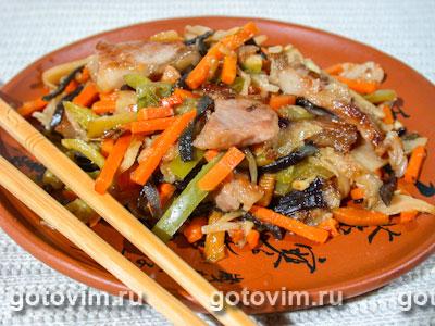 Свинина с овощами по китайски