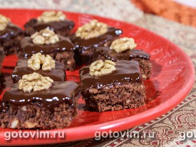 Шоколадное печенье с орехами. Фото-рецепт