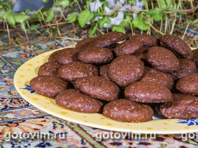 Шоколадное печенье с имбирем. Фото-рецепт