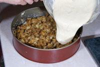 Пирог с лисичками и картофелем