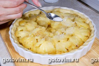Пирог с ананасом в желе