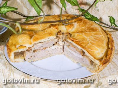 Немецкий пирог с курицей и паштетом