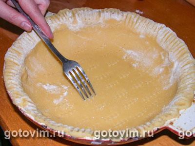Пирог с лисичками и печенкой