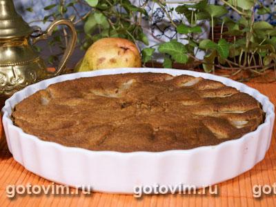 Шоколадный пирог с грушами и коричневым сахаром brown&white