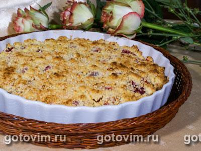 Сливовый пирог с посыпкой