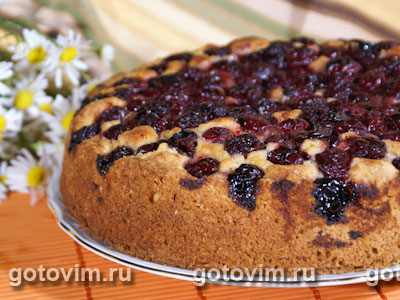 Вишневый пирог. Фото-рецепт